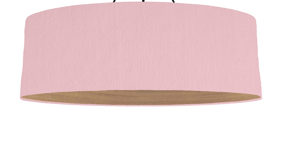 Pink & Wooden Lined Lampshade - 100cm Wide