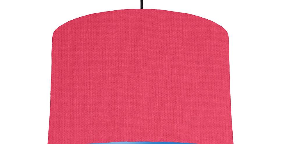 Cerise & Bright Blue Lampshade - 30cm Wide