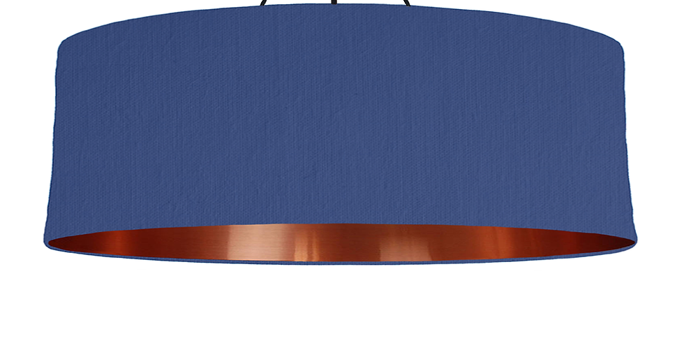 Royal Blue & Copper Mirrored Lampshade - 100cm Wide