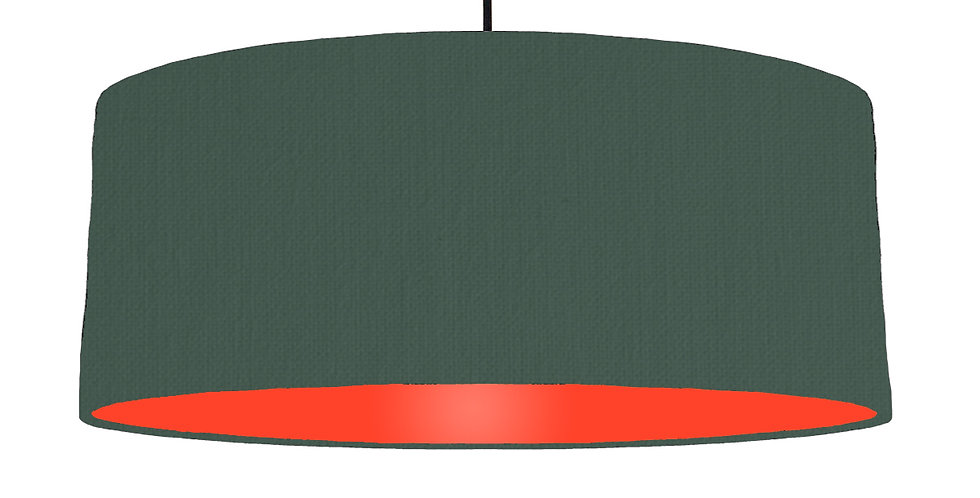 Bottle Green & Poppy Red Lampshade - 70cm Wide