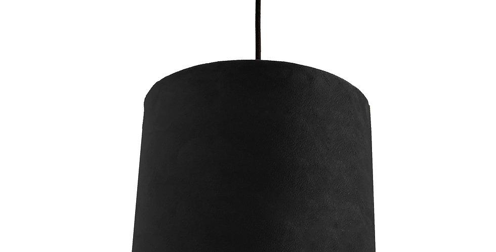Black Velvet Lampshade With White Lining