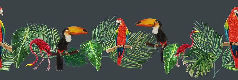 Tropical Rainforest Velvet Fabric