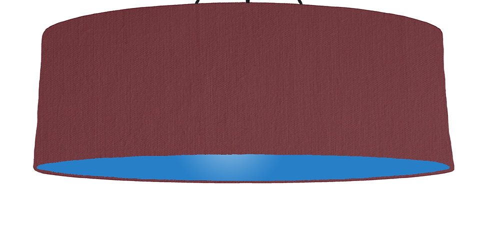 Wine Red & Bright Blue Lampshade - 100cm Wide