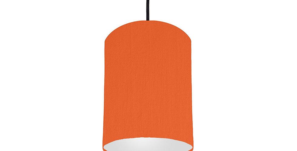 Orange & Light Grey Lampshade - 15cm Wide