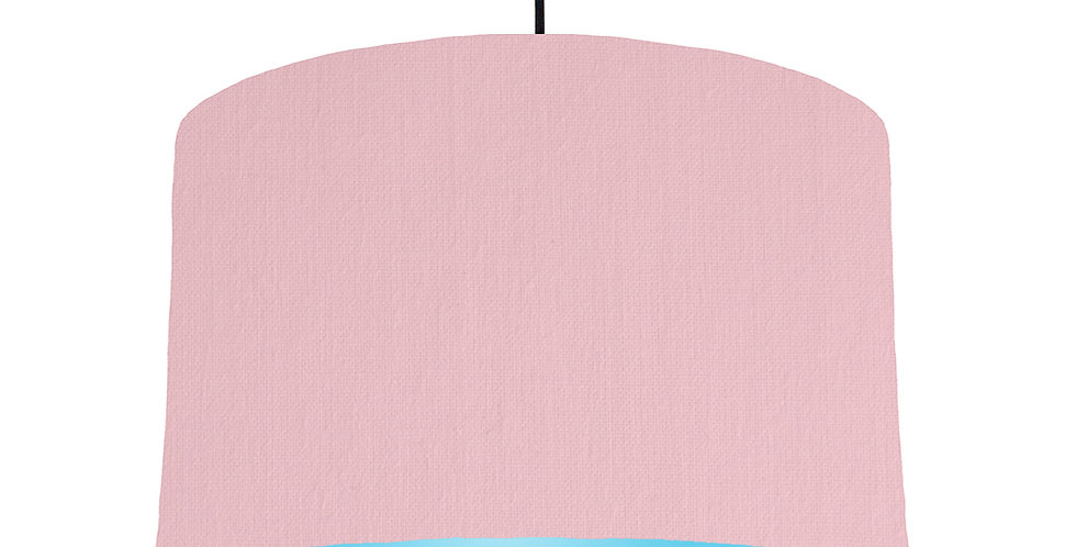 Pink & Light Blue Lampshade - 40cm Wide