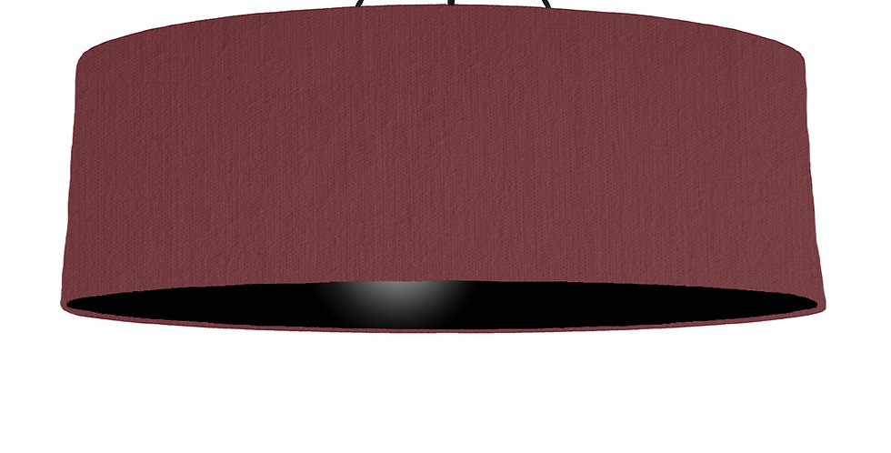Wine Red & Black Lampshade - 100cm Wide