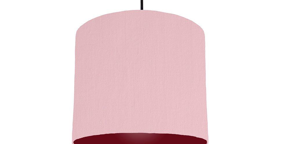 Pink & Burgundy Lampshade - 25cm Wide