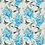 Thumbnail: Botanical Bird Velvet Cushion - Grey