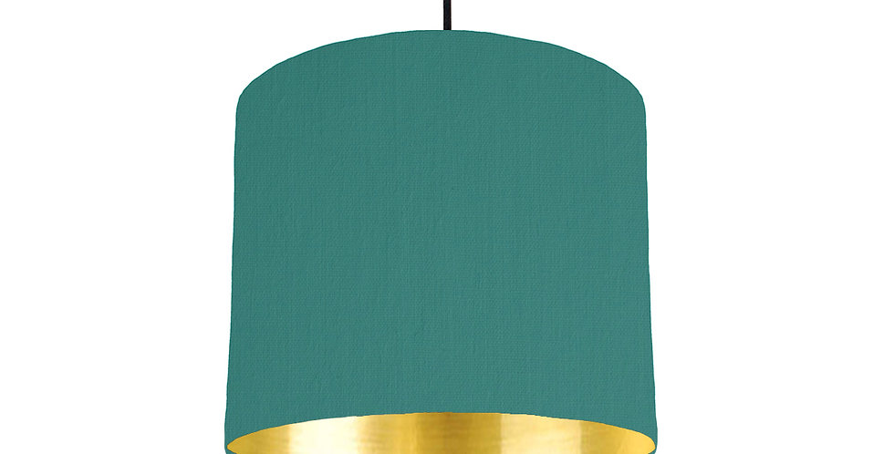 Jade & Gold Mirrored Lampshade - 25cm Wide