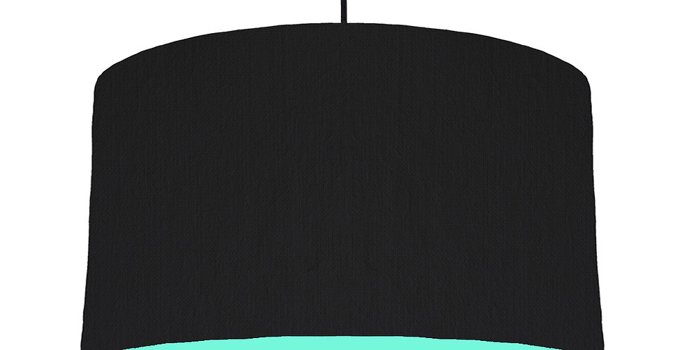Black & Mint Lampshade - 50cm Wide