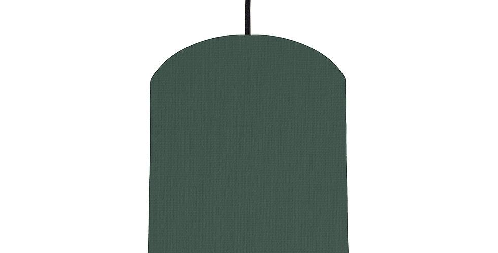 Bottle Green & Purple Lampshade - 20cm Wide