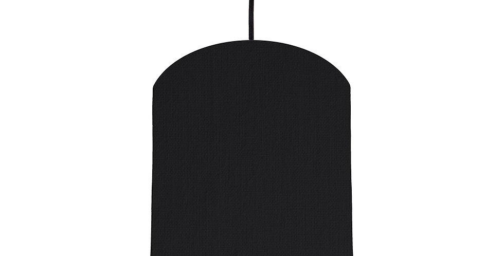 Black & Black Lampshade - 20cm Wide