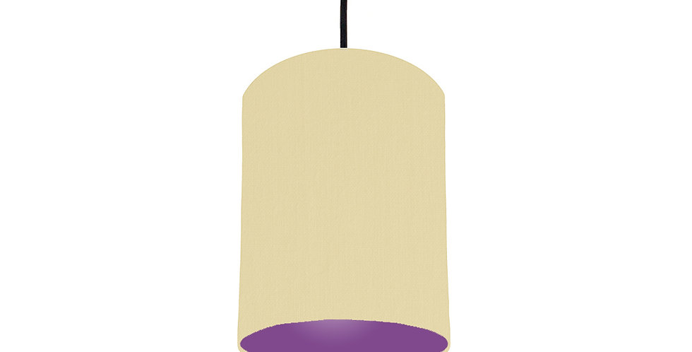 Natural & Purple Lampshade - 15cm Wide