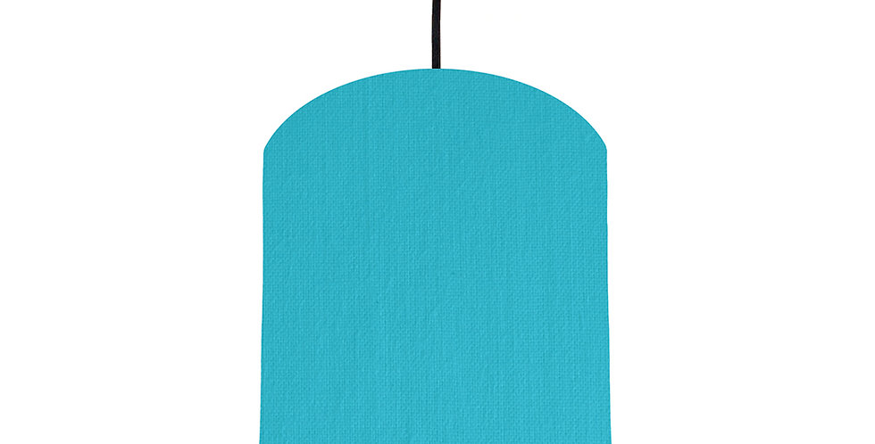 Turquoise & Navy Lampshade - 20cm Wide