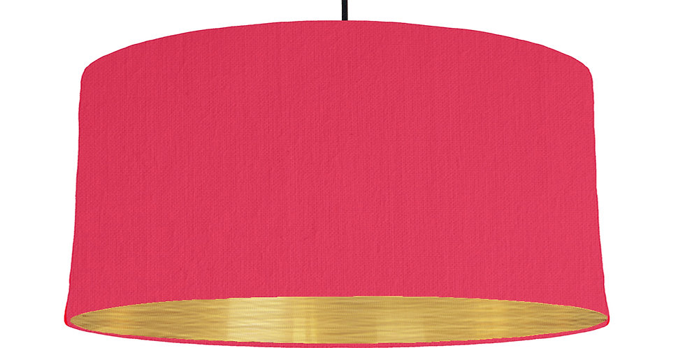 Cerise & Brushed Gold Lampshade - 60cm Wide