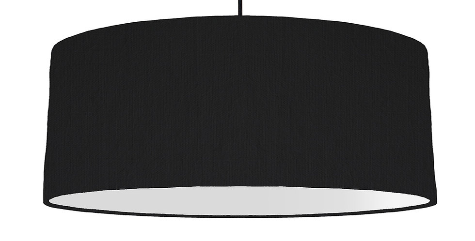 Black & Light Grey Lampshade - 70cm Wide