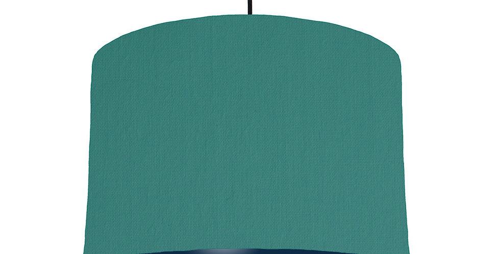 Jade & Navy Lampshade - 30cm Wide