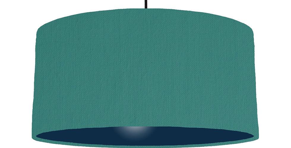 Jade & Navy Lampshade - 60cm Wide