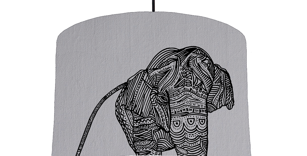 Elephant - Light Grey Fabric