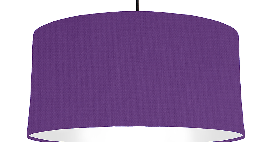 Violet & White Lampshade - 60cm Wide