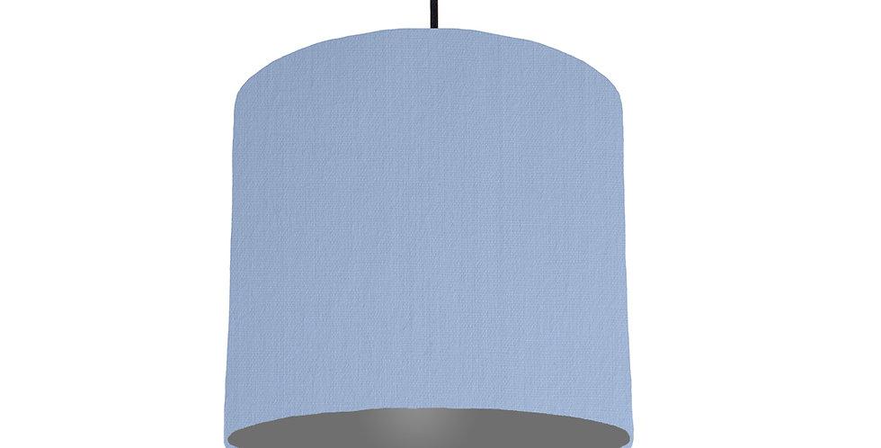 Sky Blue & Dark Grey Lampshade - 25cm Wide