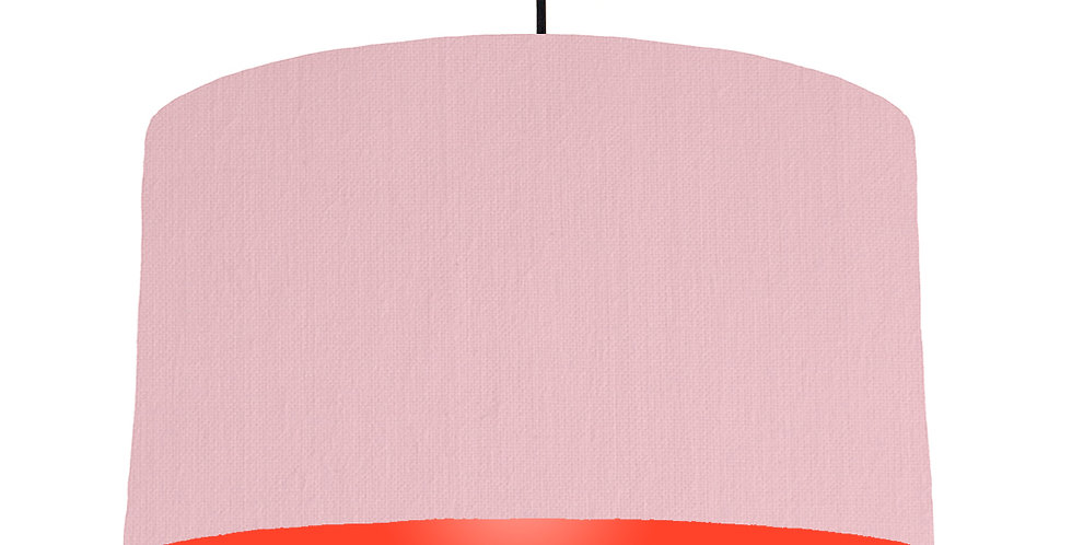 Pink & Poppy Red Lampshade - 50cm Wide