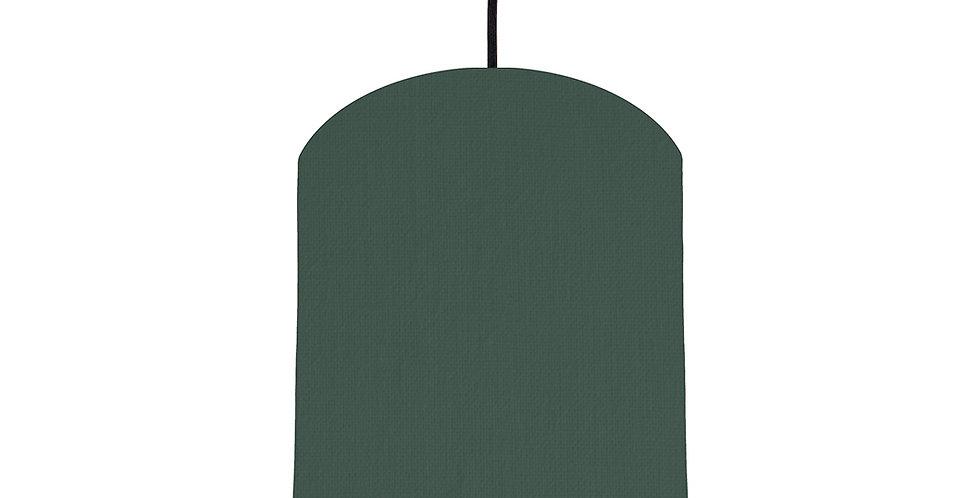 Bottle Green & Black Lampshade - 20cm Wide