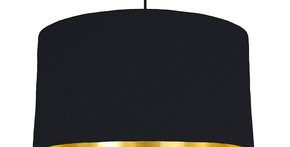 Black & Gold Mirrored Lampshade - 50cm Wide