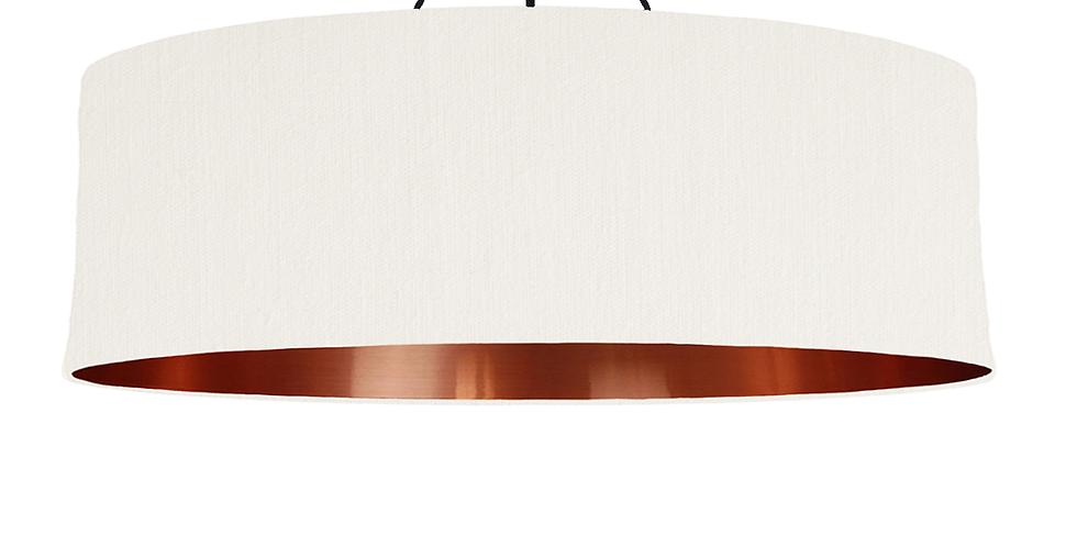 White & Copper Mirrored Lampshade - 100cm Wide