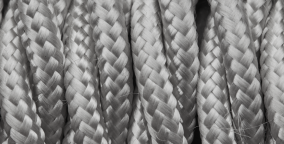 Silver - Industville Twisted Fabric Cable