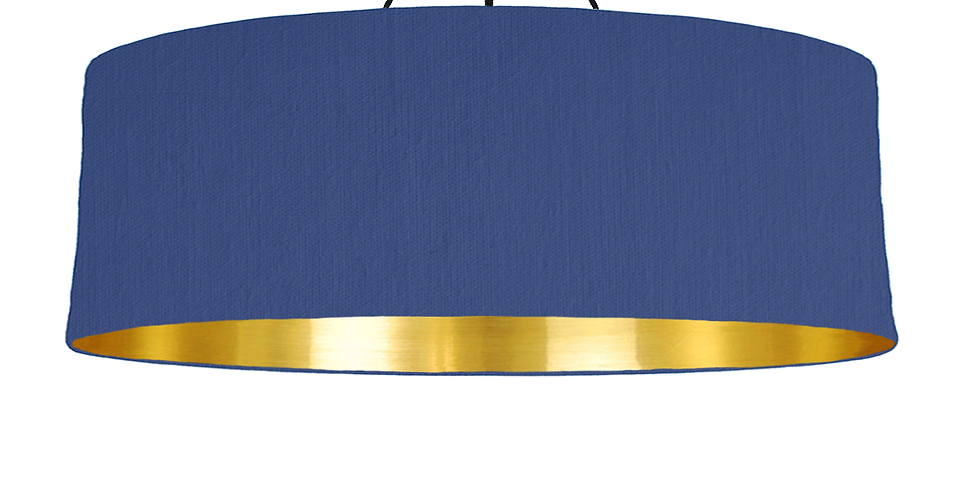 Royal Blue & Gold Mirrored Lampshade - 100cm Wide