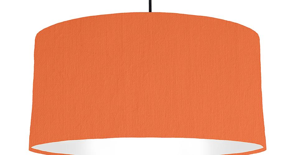 Orange & White Lampshade - 60cm Wide