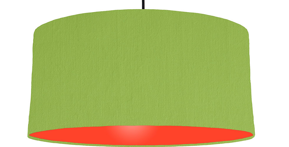 Pistachio & Poppy Red Lampshade - 60cm Wide