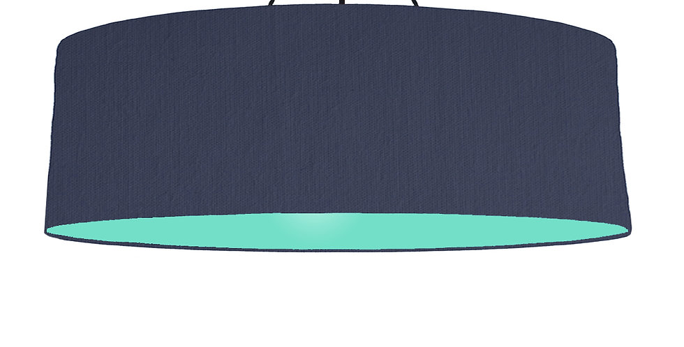 Navy Blue & Mint Lampshade - 100cm Wide