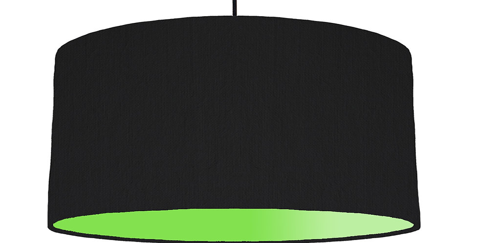 Black & Lime Green Lampshade - 60cm Wide