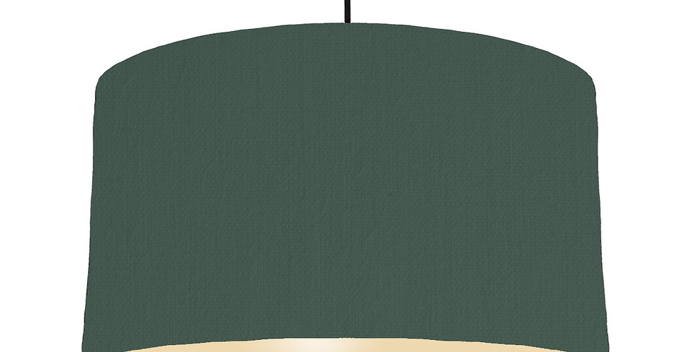 Bottle Green & Ivory Lampshade - 50cm Wide