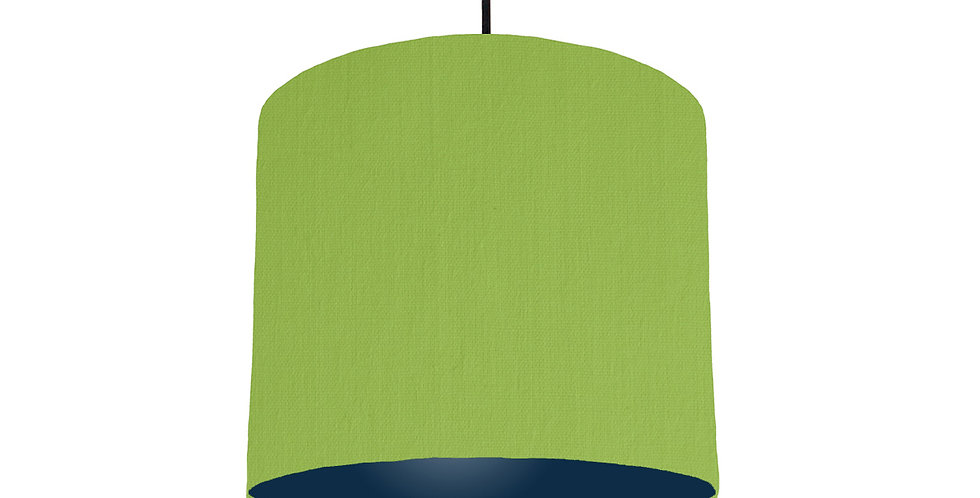 Pistachio & Navy Lampshade - 25cm Wide