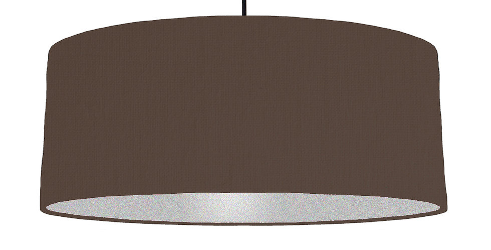 Brown & Silver Lampshade - 70cm Wide