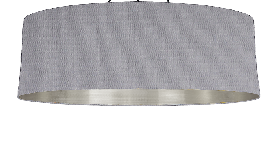 Light Grey & Brushed Silver Lampshade - 100cm Wide