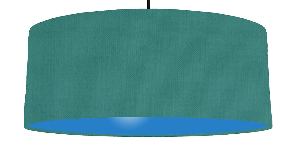 Jade & Bright Blue Lampshade - 70cm Wide