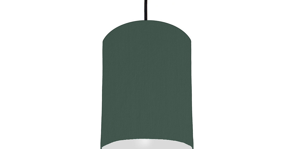 Bottle Green & Light Grey Lampshade - 15cm Wide