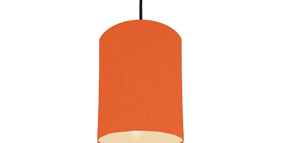 Orange & Ivory Lampshade - 15cm Wide