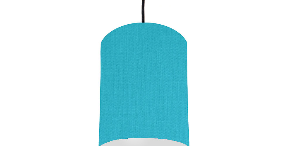 Turquoise & Light Grey Lampshade - 15cm Wide