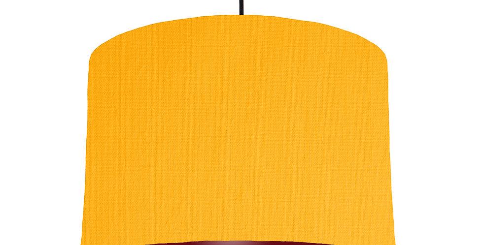 Sunshine & Burgundy Lampshade - 30cm Wide
