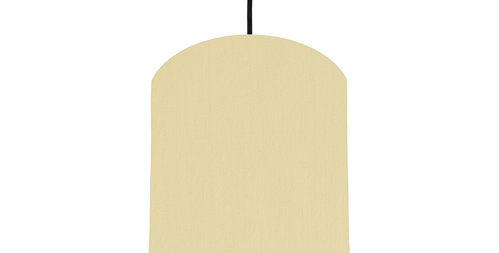Natural & Butter Yellow Lampshade - 20cm Wide