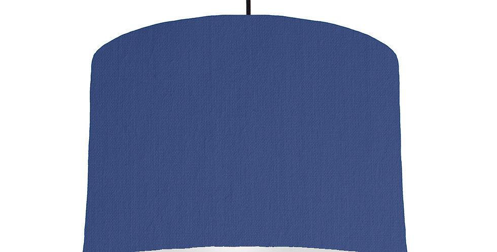 Royal Blue & Light Grey Lampshade - 30cm Wide