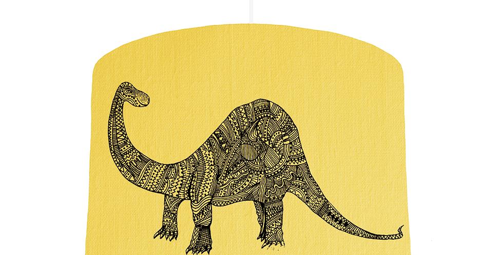 Dinosaur Shade - Lemon Fabric