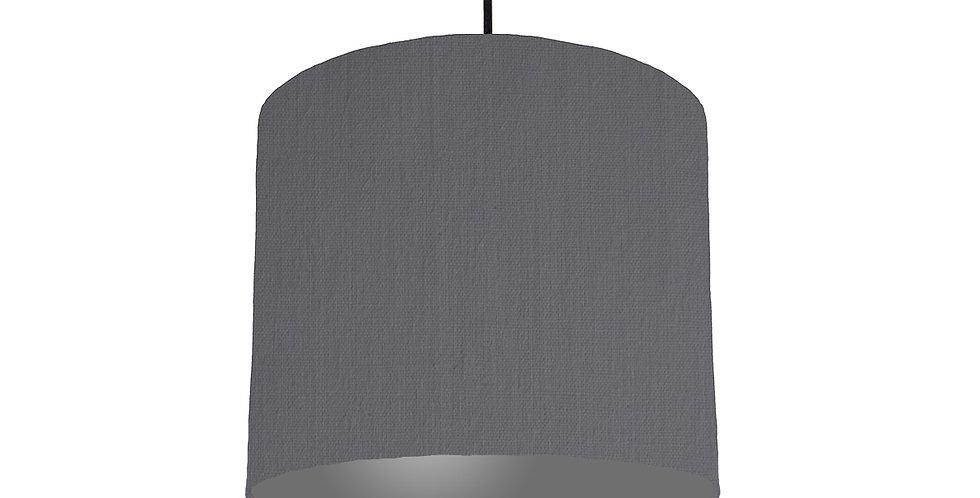 Dark Grey & Dark Grey Lampshade - 25cm Wide