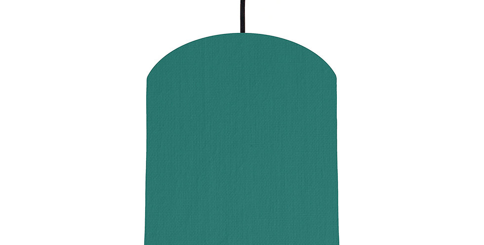 Jade Green & Brushed Copper Lampshade - 20cm Wide