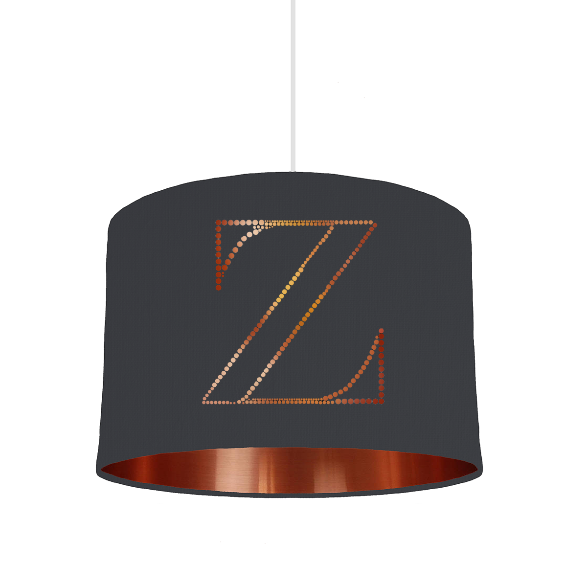 Z Personalised letter lampshade